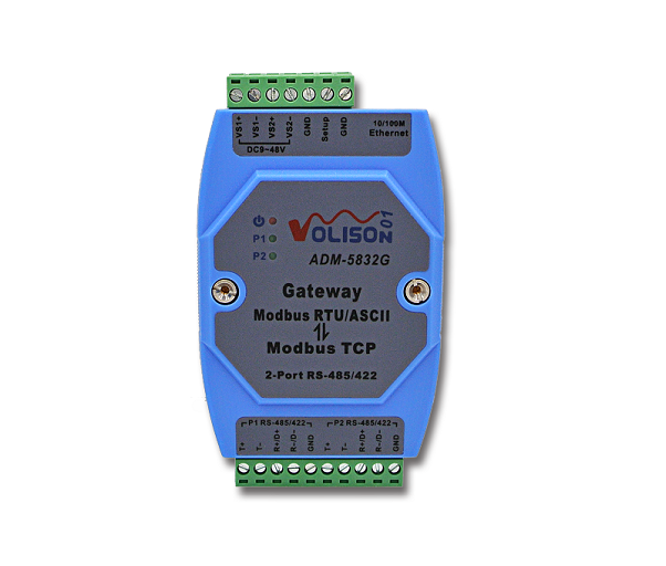 Modbus gateway 2-port RS-485/422 Modbus RTU Modbus TCP